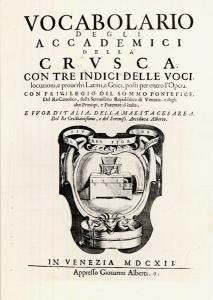 Vocabolario della Crusca 1612