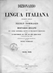 Dizionario della lingua italiana, Tommaseo-Bellini