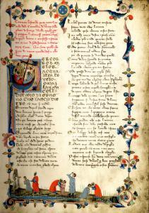 L'incipit del Paradiso in uno dei più antichi codici della Commedia
