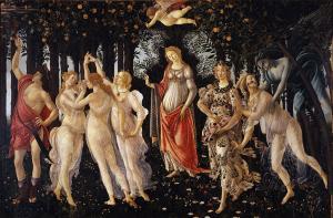 S. Botticelli, Primavera, 1482 circa, Uffizi, Firenze. Fonte: Wikimedia Commons
