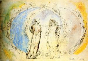 William Blake (1757-1827), Beatrice e Dante nella costellazione dei Gemelli