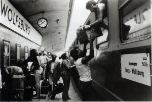Partenze alla stazione di Wolfsburg. Fonte: Centro Altreitalie