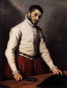 Giovan Battista Moroni, Il sarto, 1570 circa (Londra)
