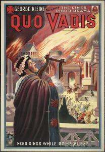 "Poster del film ""Quo Vadis?"" (1913). Fonte: Wikimedia Commons"