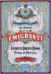 Pubblicazione per gli emigranti italiani a S. Paolo del Brasile, 1886