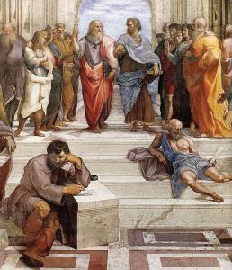 """Raffaello Sanzio, """"Scuola di Atene"""" (dettaglio), 1509-10, Musei Vaticani"""