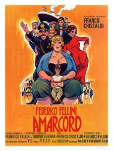 """Locandina del film """"Amarcord"""" di Fellini. Fonte: Wikipedia"""