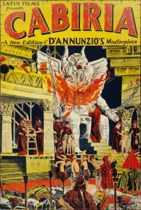 """Un poster del film """"Cabiria"""". Autore: N. Morgello, 1914. Fonte: www.loc.gov"""