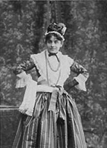 Eleonora Duse interpreta Mirandolina, 1891 circa. Fonte: Wikimedia Commons