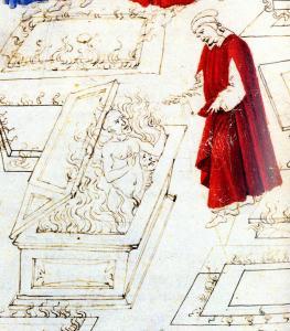 Risultati immagini per tombe infuocate dante