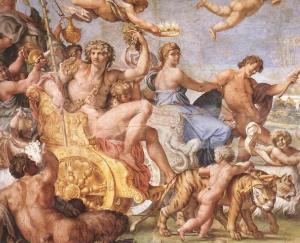 Annibale Carracci, Il trionfo di Bacco e Arianna, 1600. Fonte: Wikimedia Commons