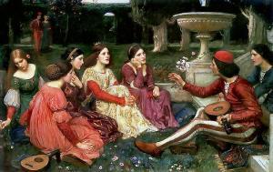 John William Waterhouse (1849–1917), A Tale from the Decameron, 1916, olio su te