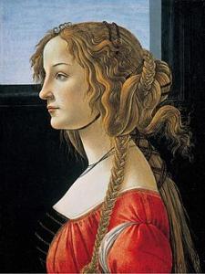 """Botticelli, """"Ritratto di una giovane donna"""", 1476-1480 ca., Fonte: WikiCommons"""