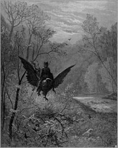 Paul Gustave Doré (1832 –1883), Astolfo, illustrazioni per l'Orlando Furioso
