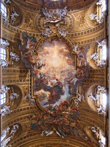 """""""Trionfo del Nome di Gesù"""", opera di Giovan Battista Gaulli detto il Baciccio"""