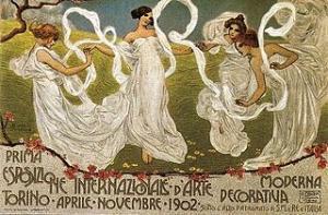 La locandina dell'Esposizione Internazionale d'Arte Decorativa Moderna del 1902