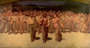 """Giuseppe Pellizza da Volpedo, """"Quarto Stato"""", 1901"""