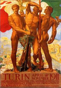 Adolfo de Carolis, Manifesto dell'Esposizione internazionale di Torino (1911)