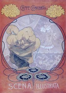 Affiche di un Caffè Concerto riprodotta sulla rivista «Scena Illustrata»