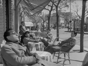 """Fotogramma del film """"I vitelloni"""" di Fellini. Fonte: Wikipedia"""