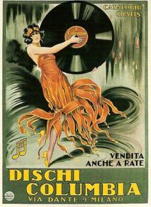 Manifesto pubblicitario dei Dischi Columbia. Fonte: arteliberty.it