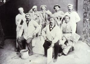 """Chamonix, 1900: decoratori biellesi, """"Famiglia Grupallo"""", Fototeca della Fondazi"""