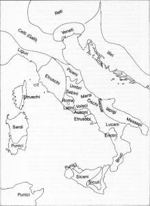 Articolazione delle popolazioni all'alba della romanizzazione