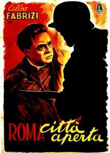 """Locandina di """"Roma città aperta"""" (1945). Fonte: Mymovies"""