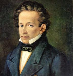 Giacomo Leopardi, ritratto di S. Ferrazzi, 1820 circa. Fonte: Wikimedia Commons