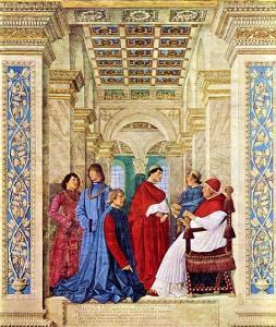"""Melozzo da Forlì, """"Il Platina"""", 1477"""