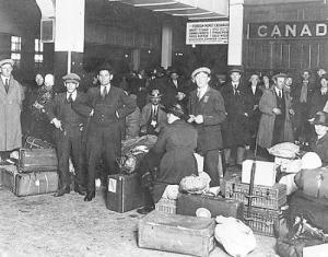 Emigrati italiani all'arrivo in Canada