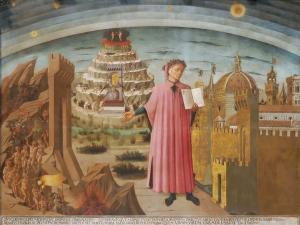 """Domenico di Michelino, """"La Divina Commedia di Dante"""". Fonte: Wikimedia Commons"""