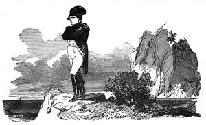 Napoleone a Sant'Elena, illustrazione, 1881. Fonte: Wikimedia Commons