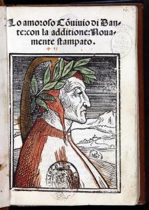 """Dante Alighieri, """"Convivio"""", Venezia, 1521.   Fonte: Palazzo Madama Torino."""