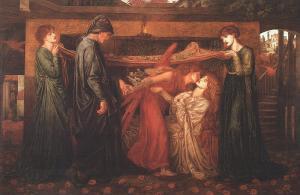 """D.G. Rossetti, """"Sogno di Dante"""" (1871 ca.). Fonte: Wikimedia Commons"""