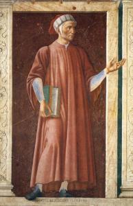 """Andrea del Castagno, """"Ritratto di Dante"""", 1450 circa. Fonte: Wikimedia Commons"""