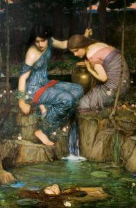 J.W. Waterhouse, Le ninfe ritrovano la testa di Orfeo (1900). Fonte: WikiCommons