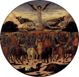 """Giovanni di Ser Giovanni, detto lo Scheggia, """"Trionfo della fama"""", 1448"""