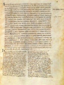 """Inizio di """"Epystole"""" in un autografo di Boccaccio. Fonte: Internet Culturale"""