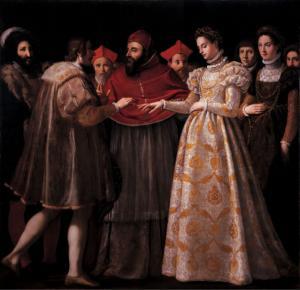 """Jacopo Chimenti, """"Nozze di Caterina de' Medici con Enrico II di Francia"""", 1600"""