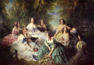 """Franz Xaver Winterhalter, """"Eugénie, Imperatrice di Francia, e le sue dame"""", 1855"""