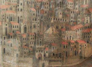 """La città di Firenze nell'affresco """"La Madonna della Misericordia"""" (1342)"""