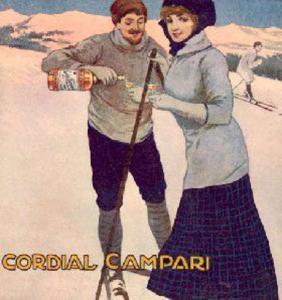 """Gian Emilio Malerba, Manifesto pubblicitario per il """"Cordial Campari"""", 1911."""