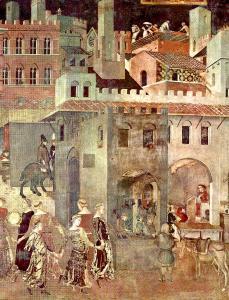Ambrogio Lorenzetti, Allegoria del Buon Governo, 1337-40, Palazzo Pubblico, Sien