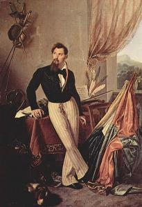 """Francesco Hayez, """"Ritratto del Conte Baglioni"""", olio su tela, 1860 circa"""