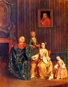 Pietro Longhi, il sarto, 1741 ca, Venezia, Galleria dell'Accademia
