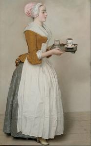 """Jean-Étienne Liotard, """"La cioccolataia"""", olio su tela, 1744"""
