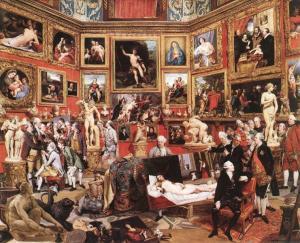 """Johan Zoffany, """"La Tribuna degli Uffizi"""", 1772-1778, Royal Collection"""