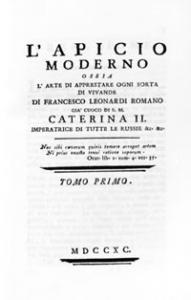 """""""L'Apicio moderno"""" di Francesco Leonardi, Roma, 1790"""