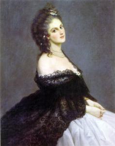 Virginia Oldoini, Contessa di Castiglione ritratta da Michele Gordigiani, 1862.